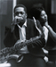 Caption: John Coltrane with Alice Coltrane 