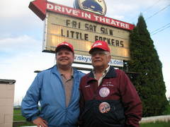 Caption: Steve Novak and Leonard Novak, Sky-Vu Drive-in, Warren, Minnesota, Credit: Todd Melby