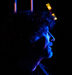Caption: Neil Gaiman waits backstage, Credit: David J. Murray, Clear Eyed Photo