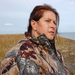Caption: Darla Rooks looks out over the oiled marshland of Bay Jimmy. , Credit: Barry Yeoman