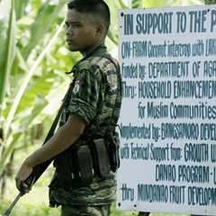 Caption: A Moro rebel in Sultan Kudarat, Southern Philippines, on Feb. 19, 2008., Credit: Mark Navales