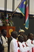 Caption: Veterans of the Second Sudanese Civil War stand under the new flag of South Sudan., Credit: Alyce Ornella
