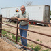 Caption: Mike Callicrate owns a feed yard in St. Francis, Kan. where the mobile meat processing unit currently resides. Owned by the Nebraska Environmental Action Coalition, the slaughter unit has been tested on Callicrates northwest Kansas property since last fa, Credit: Eric Durban / Harvest Public Media