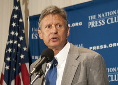 Caption: Former Gov. Gary Johnson, NM at the National Press Club August 19, 2011, Credit: Noel St. John