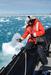 Caption: Local composer Cheryl Leonard recording the sound of Antarctica in 2009