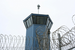Caption: Watchtower at Pelican Bay State Prison, Credit: Rina Palta