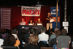 Caption: A scene from our first panel of our 2011 season!, Credit: Viera Levitt