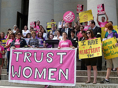 Caption: Pro-abortion rally, Credit: Flickr user: ProgressOhio