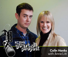 Caption: Colin Hanks with Anne Litt