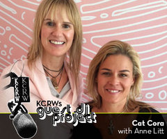 Caption: Cat Cora with Anne Litt
