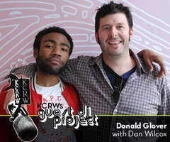 Caption: Donald Glover with Dan Wilcox