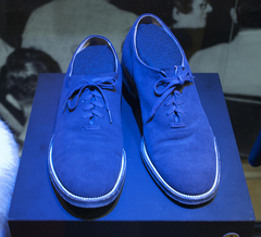 Caption: Carl Perkins' Blue Suede Shoes, Credit: Wonderdawg777