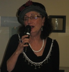 Caption: Rivka Amado performs Ladino songs at the Reutlinger Community for Jewish Living in Danville, California., Credit: Rhonda J. Miller