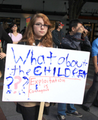 Caption: Teen Protestor at Occupy Seattle, Credit:  Hollywata