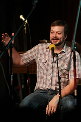 Caption: Filmmaker Curt Ellis, Credit: Jennie Baker for Live Wire!