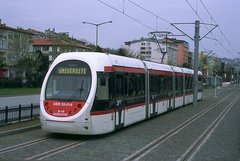 Caption: Tramway in Samsun, Turkey, Credit: Jack May