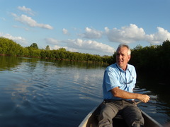 Caption: Tom Ries in Cockroach bay, Credit: Andrew Stelzer