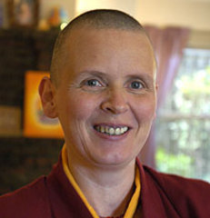 Caption: Venerable Aileen Barry, Buddhist nun, Credit: Liberation Prison Project