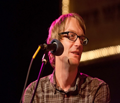 Caption: Acclaimed Author, Patrick deWitt, Credit: Jennie Baker for Live Wire!