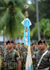Caption: Parachute Brigade of Guatemalan Army
