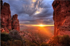 Caption: Sedona, AZ, Credit: http://thepuffingtonhost.com/arizona-to-issue-licenses-for-medical-marijuana-dispensaries/gorgeous-sedona-arizona-sunset/