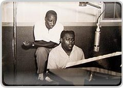 Caption: Fats Domino in J&M Studios