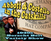 "Caption: ""Abbott & Costello"" (Joe Bevilacqua & Bob Greenberg)"