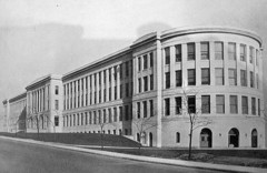 Caption: Pittsburgh's Schenley High School in its glory days., Credit: Wikimedia.