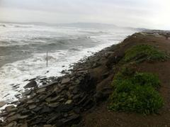 Caption: The view from the Sloat Boulevard Parking Lot after a large storm. Photo taken March 17th, 2012, Credit: Bill McLaughlin / Surfrider Foundation