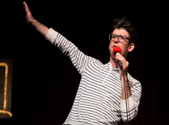 Caption: Acclaimed Author & Stand-up Comedian Moshe Kasher, Credit: Jennie Baker for Live Wire!