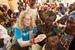 Caption: February 2012, UNICEF Goodwill Ambassador Mia Farrow gives a girl a dose of oral polio vaccine at an immunization site in the town of Moundou in Logone Region, Chad., Credit: UNICEF/NYHQ2012-0062/Asselin