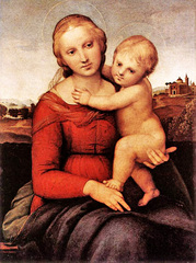 Caption: Madonna (not the singer) and child