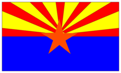 Caption: Arizona State Flag