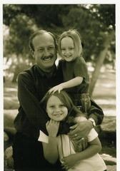 Caption: Mattea, her big sister, Margo, and her dad