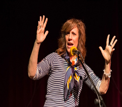Caption: Author & Comedian Lizz Winstead, Credit: Jennie Baker for Live Wire!
