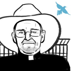 Caption: Rev. John Fife, Credit: Eleanor Davis, www.doing-fine.com