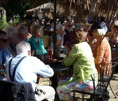 Caption: Mill City Commons seniors meet at a local riverfront lounge.