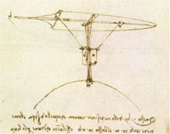 Caption: Leonardo da Vinci's flying machine