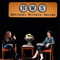 Caption: Best-selling authors Jodi Picoult and Paula McLain, Credit: John Russell