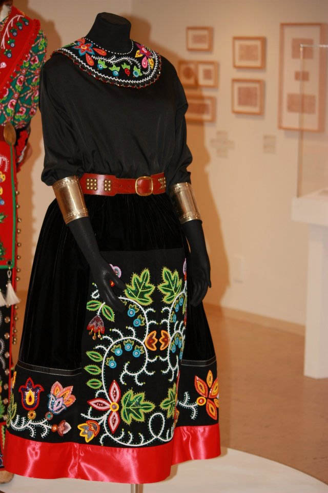 Caption: Traditional Anishinaabe woman's skirt:, Credit: Delina White