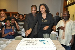 Caption: Danny & Rosyln Givens celebrate at Above Every Name