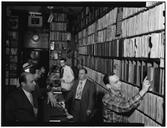 Caption: Commodore Record Shop, 1947, Credit: William P. Gottlieb