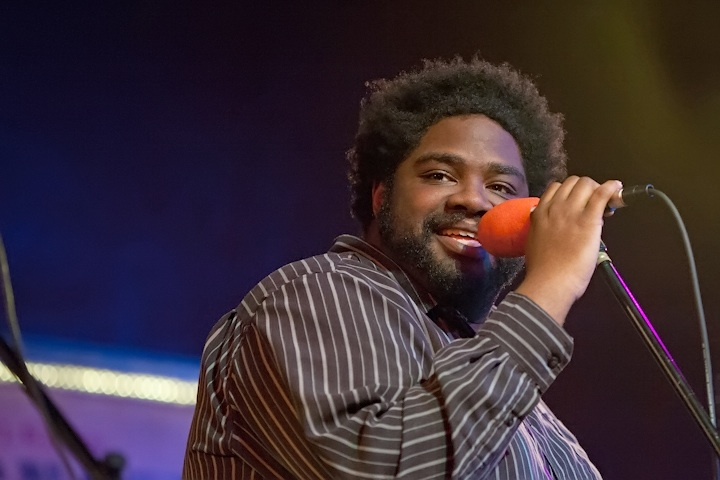 Caption: Comedian Ron Funches, Credit: Jennie Baker for Live Wire!