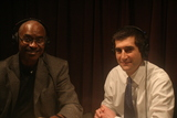 Caption: Dr. Joe Marshall and David Onek in studio.