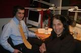 Caption: David Onek and Sunny Schwartz in studio.
