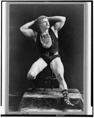 Caption: Strongman Eugene Sandow, 1893, Credit: Library of Congress