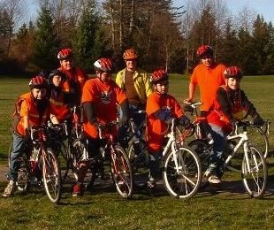 Caption: Kids from The Bike Shop on a Saturday ride, Credit: Used with permission from Matt Velguth