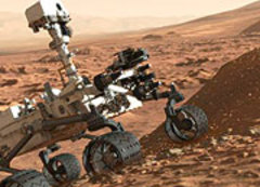 Caption: A Martian Curiosity, Credit: Seth Shostak