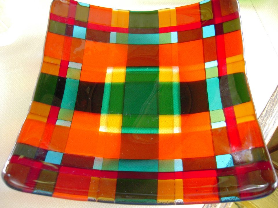 Caption: Fused Glass Plate