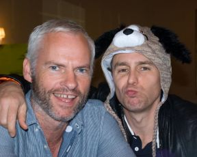 Caption: Martin McDonagh & Sam Rockwell, San Francisco, CA 10/6/12, Credit: Andrea Chase